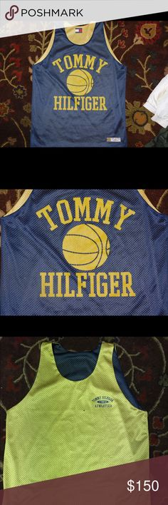 Vintage Tommy Hilfiger basketball jersey ! One size fits all Tommy Hilfiger Shirts Tank Tops