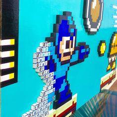 "On instagram by alexisarmandi  #8bits #microhobbit (o)  http://ift.tt/1kkhZ1V  ""Megaman glitch in the Matrix"" 3d pixel art made with wood hand painted and cut like and comment #retro #pixel #pixelart #nintendo #nerd #handcraft #myhobby #videogames #videojuegos #vintage #megaman #capcom #alexisarmandi #playstation #xboxone  #8bitart #art #arte #oldschool #glitch #decoration #frame #artist #3d #gamer #game #thematrix #matrix"