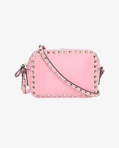 Valentino Rockstud Camera Bag: Pink