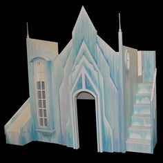Frozen Castle Playhouse - Custom Designed by Tanglewood Castle Playhouse, Castle Bed, Indoor Playhouse, Frozen Room, Frozen Castle, Bunk Beds With Stairs, Kids Bunk Beds, Sharing Bed, Stair Plan
