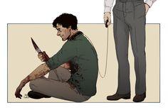 """I'm not crazy"" Hannibal and Will Graham fanart"