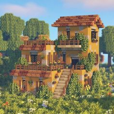 Minecraft House Plans, Minecraft Farm, Minecraft Mansion, Minecraft Cottage, Minecraft House Tutorials, Cute Minecraft Houses, Minecraft House Designs, Minecraft Survival, Minecraft Construction
