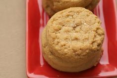 Peanut butter cookies with a glass of milk. Can't you conjure up…