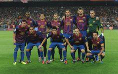 FC BARCELONA TEAM PHOTO 2011 | SPANISH SUPER CUP WINNERS .