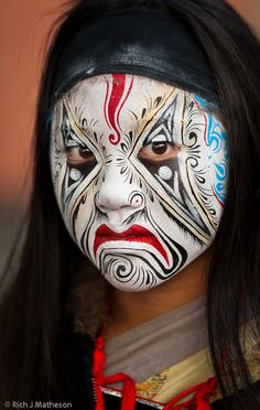 Taiwan.  I realize this is tribal painting.  But the way the mouth is done is great for a Halloween twist.