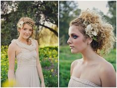 delicate floral/wreath halo for brides
