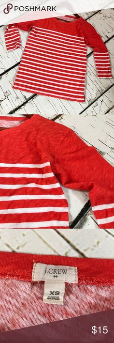J.Crew Super cute 3/4 sleeve top. Good used condition. Colors are bright and new looking! J. Crew Tops Tees - Short Sleeve