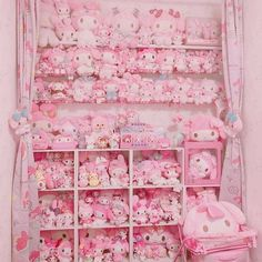 Find images and videos about pink, kawaii and room on We Heart It - the app to get lost in what you love. Hello Kitty Bedroom, Cat Bedroom, Kawaii Bedroom, Pastel Room, Pastel Pink, Aesthetic Rooms, Pink Aesthetic, Otaku Room, Cute Room Ideas