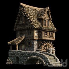 Fantasy City, Fantasy House, Disneysea Tokyo, Medieval Games, Hirst Arts, Casual Art, Doll House Plans, Doll House Crafts, Backyard Cottage