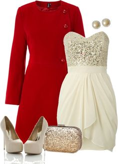 """Sequin Bust Dress"" by deniselanders ❤ liked on Polyvore"