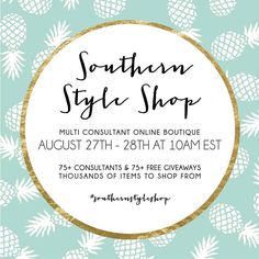 Awesome Sale with tons of giveaways on Saturday come check out the ladies at Southern Style. http://ift.tt/2bNK5Qo