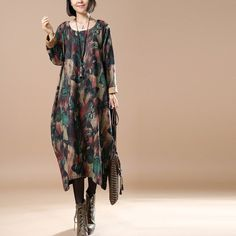 Autumn/winter Loose Printing Dress