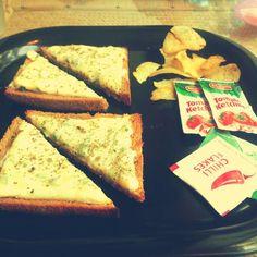 Cheese Chilli Toast | Coffee & Bread Art Cafe | Pune Restaurant Finder, Coffee Bread, Bread Art, Kitchen Supplies, Pune, Toast, Cheese, Food, Kitchen Gadgets