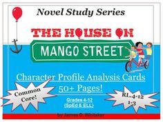 House on Mango Street Character Analysis Profile Cards -- 50+ Pages of Common Core Materials!