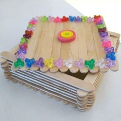 Preschool Crafts for Kids*: Mother's Day Popsicle Stick Jewelry Box Craft Popsicle Crafts, Vbs Crafts, Church Crafts, Camping Crafts, Craft Stick Crafts, Arts And Crafts, Craft Ideas, Pop Stick Craft, Craft Sticks