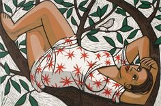"Anita Klein -Resting in a Tree "" Plus Size art """