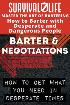 In a survival situation, knowing how to barter to get what you need is a vital skill. Check out our bartering tips and download a FREE ebook. #SurvivalLife #Survival #Ideas #AndTrade