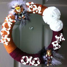 House Divided wreath I made!