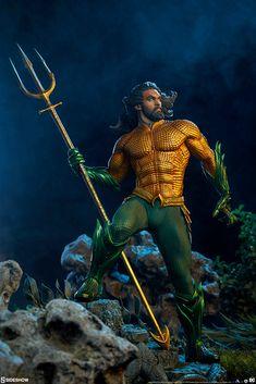 DC Comics Aquaman Premium Format(TM) Figure by Sideshow Jason Momoa Aquaman, Marvel Vs, Marvel Comics, Justice League Marvel, Aquaman 2018, Batman Begins, Dc Comics Art, Dc Characters, Sideshow Collectibles