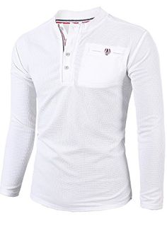160e95f0 MIEDEON Mens Casual Slim Fit Henley Shirts With Bound Pocket Of Waffle  Cotton Review