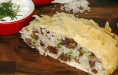 Rice and meat phyllo (Ouzi) Recipe - one of my fav arabic food's :D So yummy! The arab's pasty!