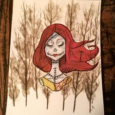 Sally (The Nightmare Before Christmas) Watercolor Painting  by HaleyKlineArt for sale on Etsy