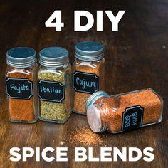 Como hacer especias Fajita, Cajún, Italiana y Barbacoa