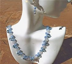 Crystal Blue Persuasion by jewelryinvegas on Etsy, $68.00