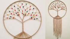 hand embroidery amazing trick# easy trick to make woolen flower with scale# wool flower - Free Online Videos Best Movies TV shows - Faceclips Yarn Crafts, Diy Crafts, Dream Catcher Craft, Macrame Wall Hanging Diy, Macrame Owl, Tree Of Life Jewelry, Macrame Projects, Macrame Tutorial, Macrame Patterns
