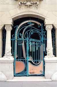 Art Nouveau Gate at Castel Béranger - designed by Hector Guimard (French, 1867-1942)