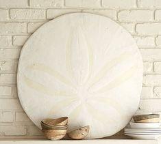Beachy is great - love stuff like this (shells/driftwood type stuff is great) Oversized Sand Dollar #potterybarn