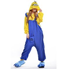 New Cosplay Despicable Me Dava Polar Fleece Erwachsene Kigurumi Pyjama – EUR € 23.99