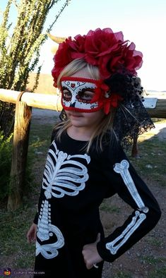 Sarah: Love living in El Paso and all of the Day of the Dead and Halloween celebrations here. My 4 year old, Bea, loves all things sugar skull so her costume...