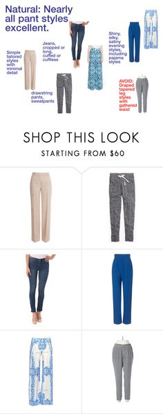 Natural Pants by adhp on Polyvore featuring Vika Gazinskaya, ESCADA, Emilio Pucci, Zeus+Dione, NYDJ, Madewell and Joie