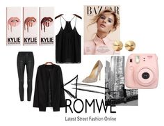 """Romwe"" by zahirovic ❤ liked on Polyvore featuring moda, Eddie Borgo e Jimmy Choo"
