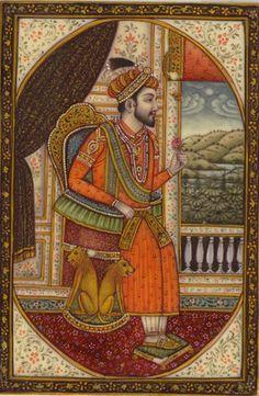 Shah Jahan Mumtaz Mahal Mughal Pair Miniature Portrait Artwork Handmade Painting…