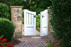 Wooden garden gates have to withstand a lot of variation in weather conditions, regardless of where you live. Backyard Gates, Garden Gates And Fencing, Garden Doors, Fence Gate, Front Fence, Front Entry, Wooden Garden Gate, Wooden Gates, Landscaping Retaining Walls