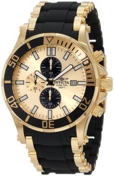 Invicta Men's 1478 Sea Spider Chronograph Gold Dial Black Polyurethane Watch Invicta http://www.amazon.com/dp/B005YNSW1C/ref=cm_sw_r_pi_dp_Xx.ovb0BEPSTR