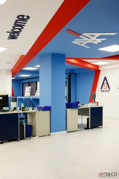 Identidad corporativa de las oficinas axa de jos luis al en castell n detalles identidad - Axa seguros oficinas ...
