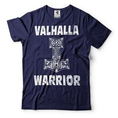 Valhalla Warrior T-Shirt Gift For Fans Odin Tees The Hammer Of Thor Norway T-shirt Mjolnir Shirts Gi