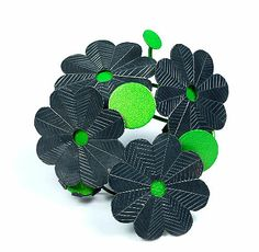 Helen Britton  Brooch: Burnt Garden 2005  Silver, paint