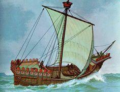 Kogge. Utover på 1200-tallet ble koggene den dominerende typen havgående handelsskip. Koggene var flatbunnet, brede og kunne ta stor last. De var lette å seile, bl.a. fordi roret relativt tidlig ble utformet som stavnror. Utover på 1400-tallet ble skipene etter hvert rigget opp med flere master og flere seil på hver mast. Klinkbyggingen ble erstattet med såkalt kravellbygging, hvor planker ble spikret eller boltet direkte på et solid spantskjelett, laget på forhånd. Ved klinkbygging ble…
