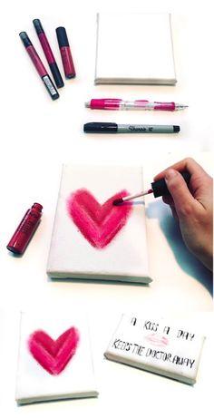 DIY: Lipstick Heart Canvas | dormify.com