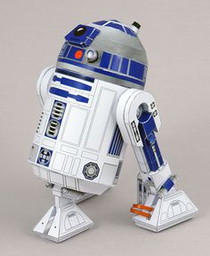 R2D2 at SF Papercrafts - detailed, Japanese instructions