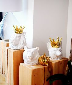 crowned animal keepsake holders