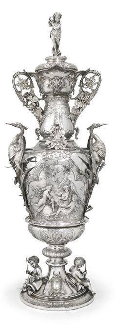 Large Victorian Silver Trophy cup and cover, Stephen Smith for Stephen Smith & Son, London 1877 | Sotheby's