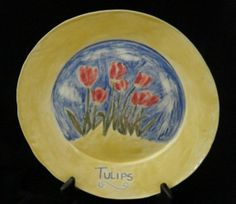 Tulip Plate by rgtmum on Etsy, $70.00