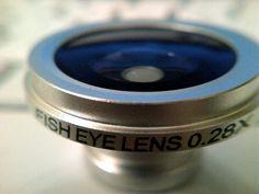 My Fisheye Lens for my phone's camera. :)