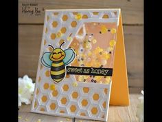 (133) Honey Bee Stamps | Hive Shaped Bees Card - YouTube