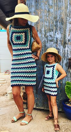[Free Crochet Pattern] A summer granny dress - utterly adorable mother/daughter twin look!